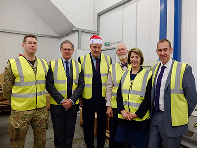 James Gray MP visiting BFPO