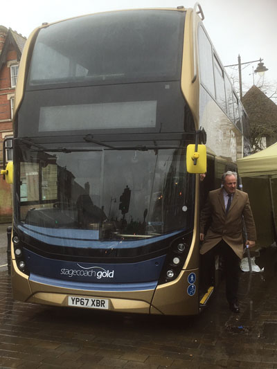 2018 02 13 James Gray MP 55 Gold Service bus